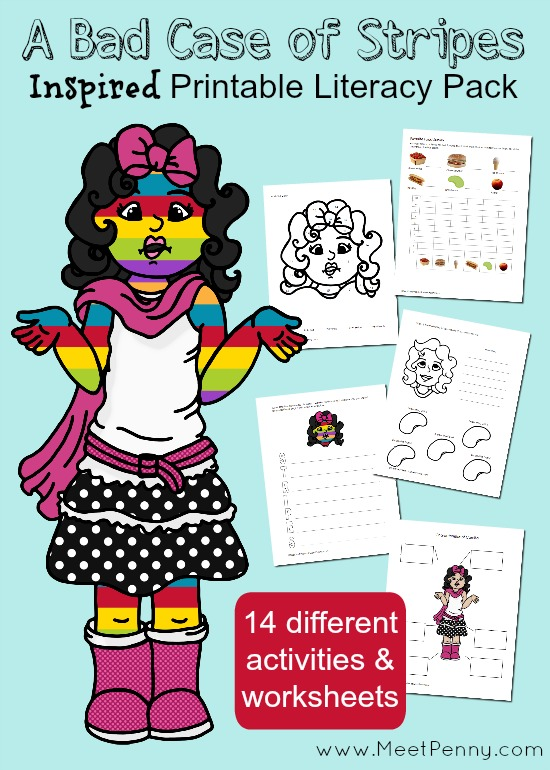 Inspired by A Bad Case of Stripes worksheets and activities