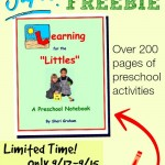 YES! Free printable preschool workbook, but only free until 9/15!