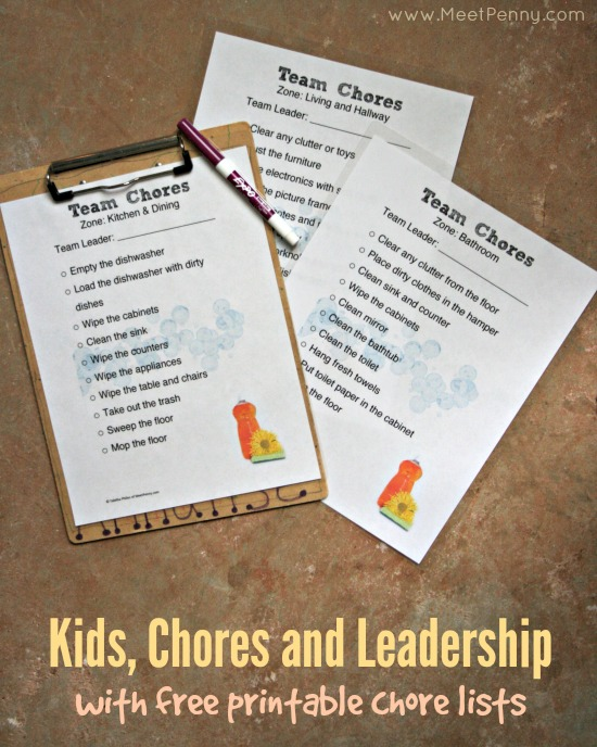 Teaching Children Leadership and Teamwork with Chores
