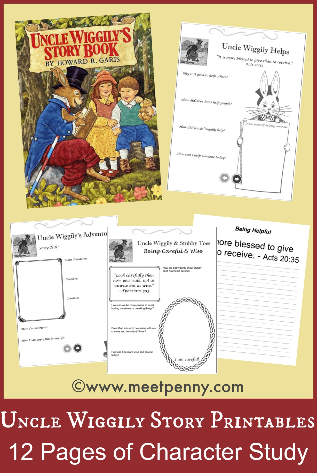 FREE Uncle Wiggily Printables - and ideas for a literature unit study