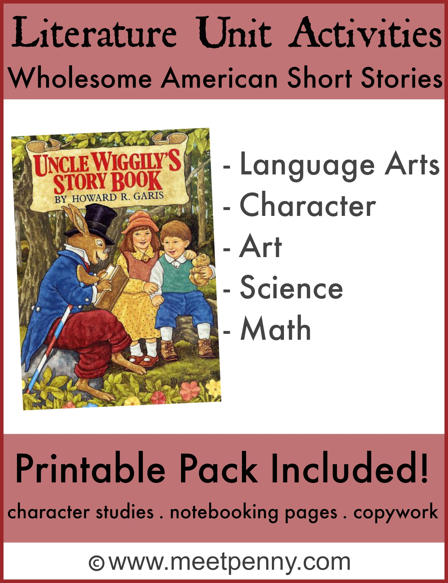 Uncle Wiggily Unit Activities and FREE Printables