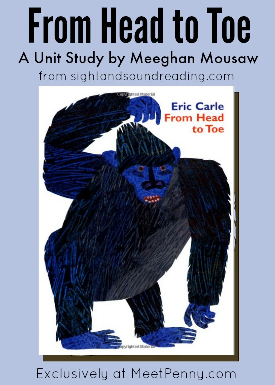 From Head to Toe by Eric Carle Unit Study