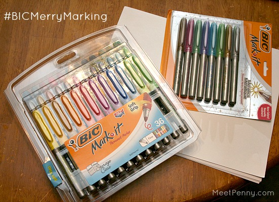 Add a personal touch using BIC Mark-It markers to make homemade recipe cards and host a goodie swap!