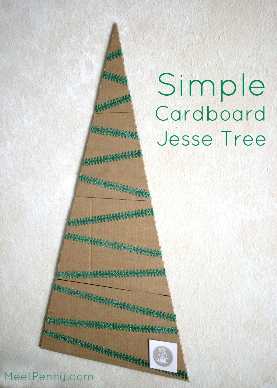 easy DIY jesse tree cardboard washi tape