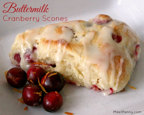 Buttermilk Cranberry Scones with Homemade Recipe Cards