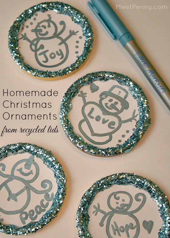 Homemade Christmas Ornaments with #BICMerryMarking