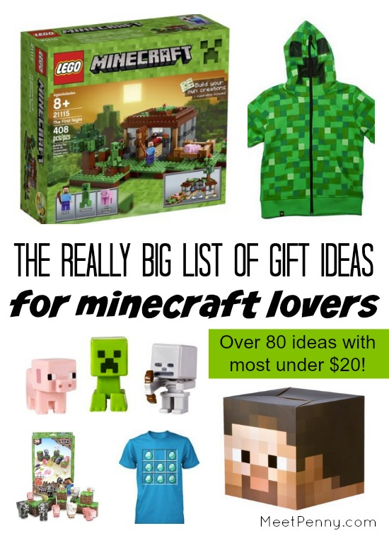 Gift ideas for minecraft lovers meet penny for Gift ideas for craft lovers
