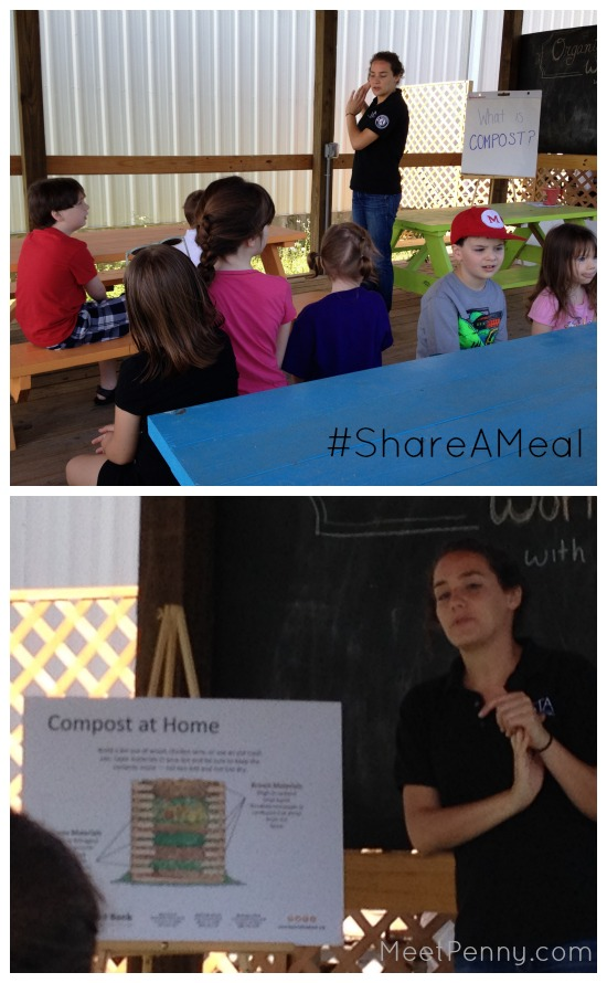 share a meal learning about compost