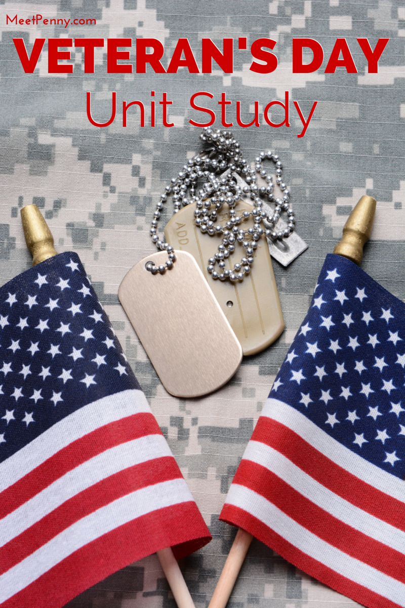 Veteran 39 s Day Unit Study with Patriotic