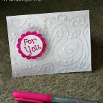 Entice a friend to slip away to the movies with a homemade card. #BICMerryMarking #FandangoPink #ad