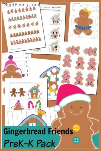 Such a cute gingerbread man printable pack!