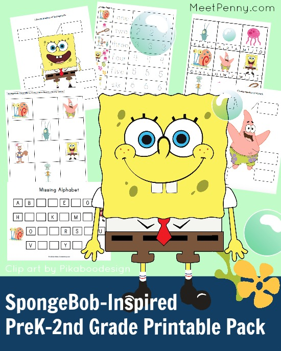 Free SpongeBob-Inspired Printable Pack