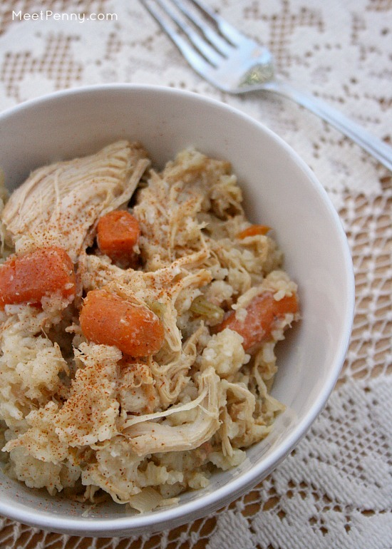 Slow Cooker Chicken and Rice