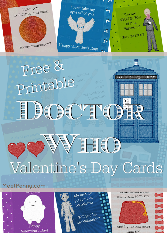 Free Printable Doctor Who Valentine's Day Cards