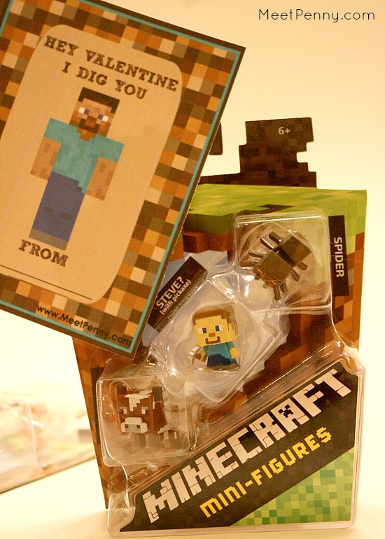 Great idea! Attach free Minecraft valentines to the minis. My kids will go nuts for this!