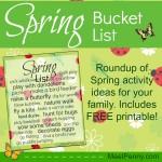 Spring Bucket List Roundup and Printable