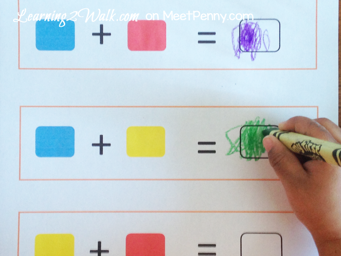 Easy Preschool Color Mixing Experiment With Printable