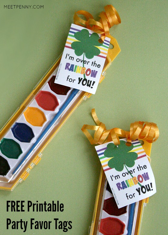 FREE printable St Patrick's Day party favors - six different designs