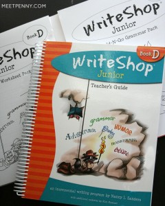 How to use WriteShop creative writing curriculum for homeschool. Includes some great ideas for teaching the writing process and a free printable word wall!