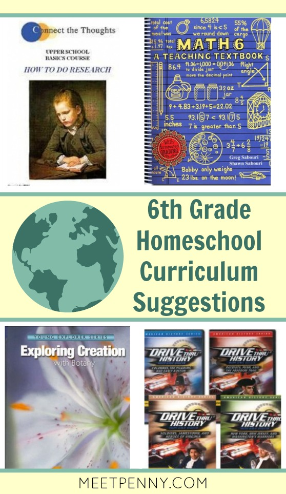 6th Grade Homeschool Curriculum