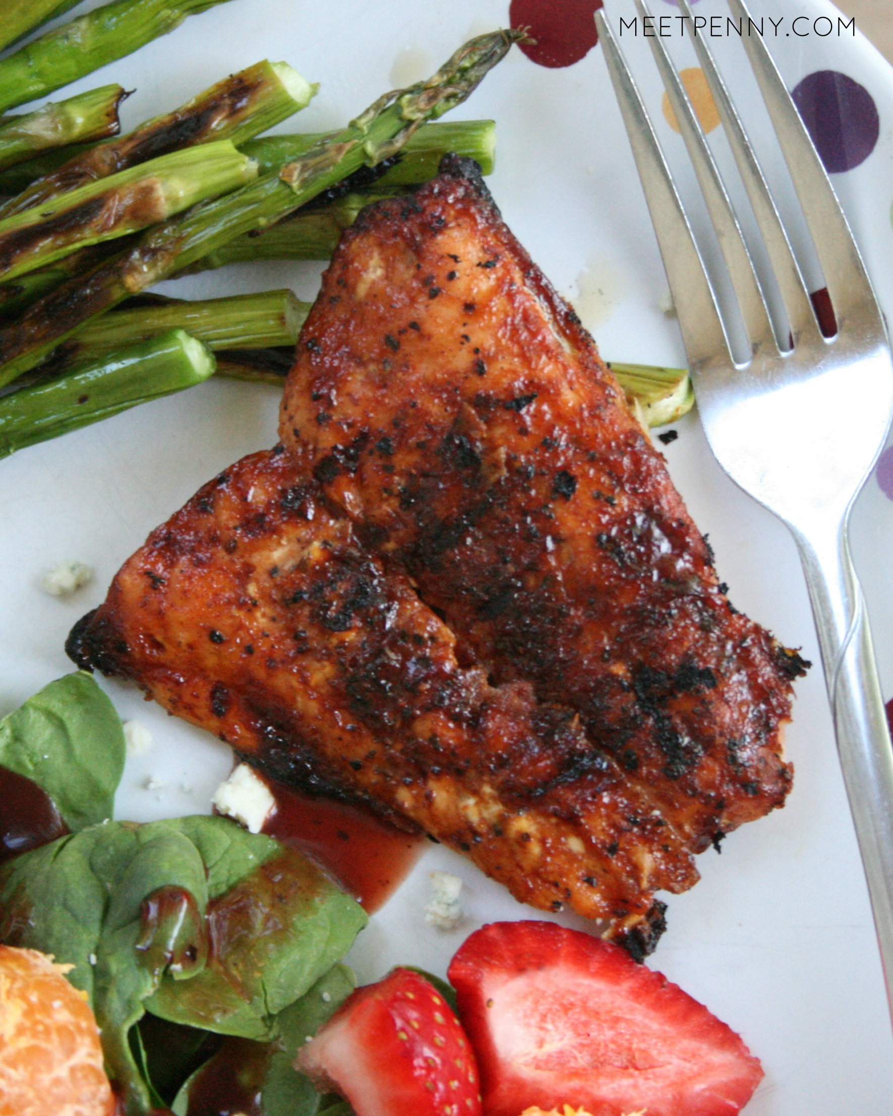 Easy Barbecue Salmon (Weekend Potluck #170)