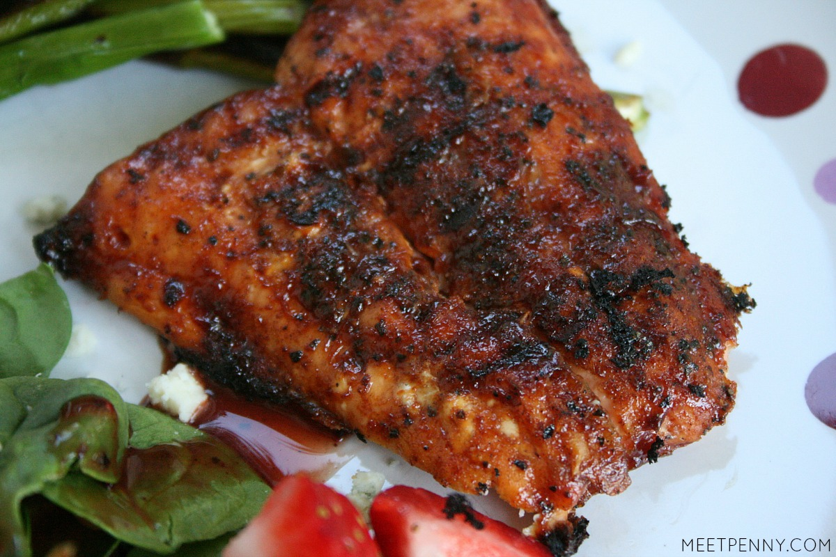 Barbecue salmon is actually a great way to encourage non-seafood lovers to try something new.  Delicious, healthy and fast. Great for weeknight grilling.