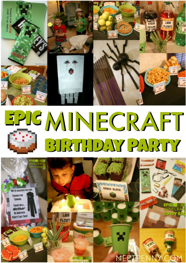 Epic Minecraft Birthday Party Ideas