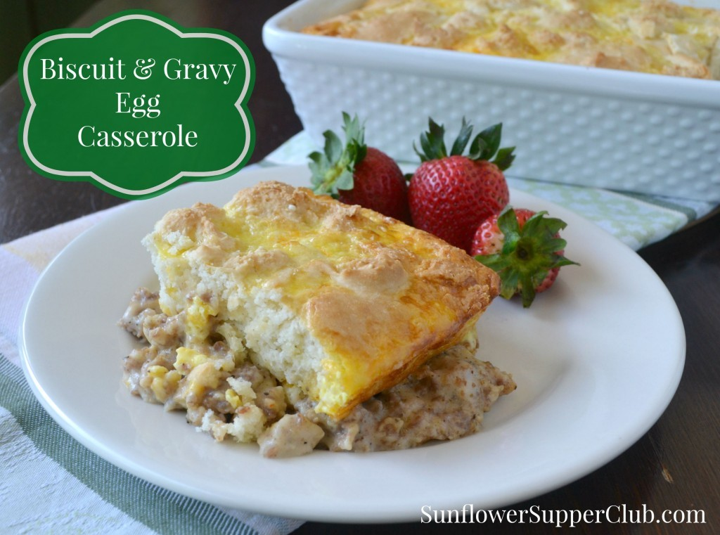 Biscuit and Egg Gravy Casserole at Weekend Potluck 181