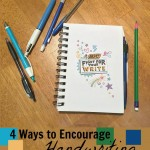 Encourage handwriting the FUN way. Love these 4 tips for helping kids to love writing. Includes printable kids stationary cards! #ad