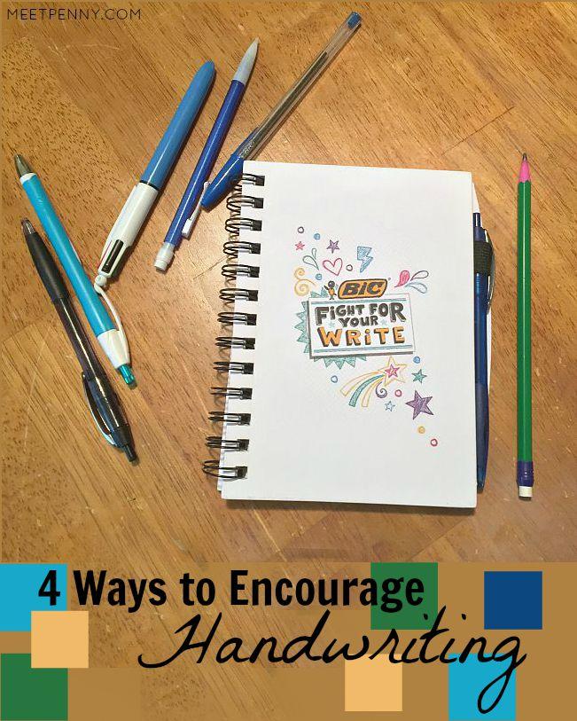4 Way to Encourage Your Children to Practice Handwriting