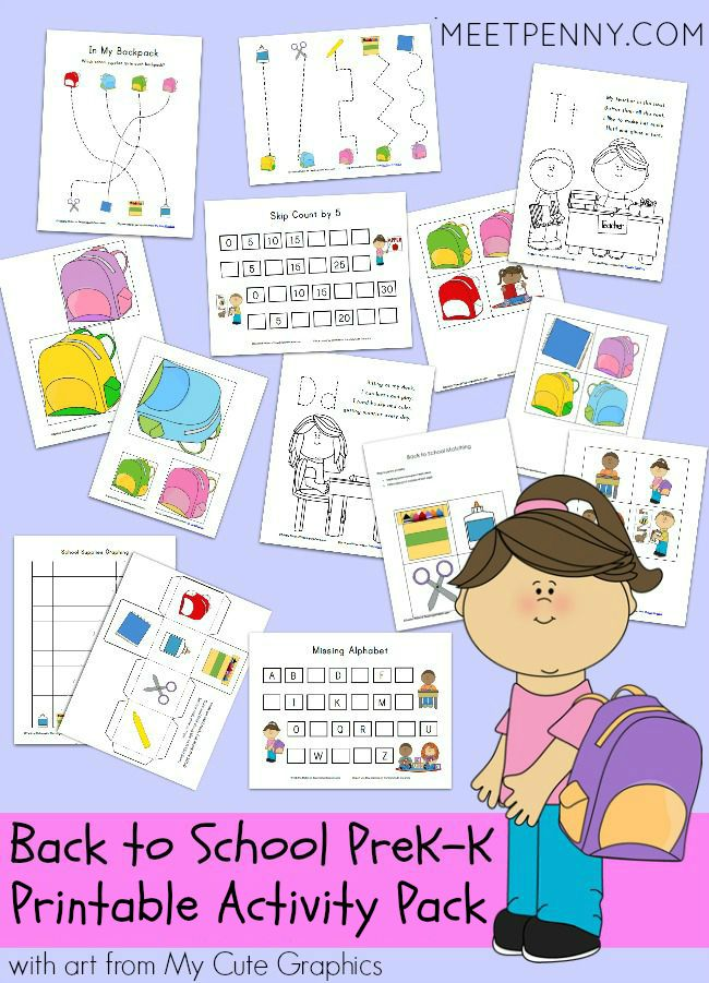 Back to School Printable Pack
