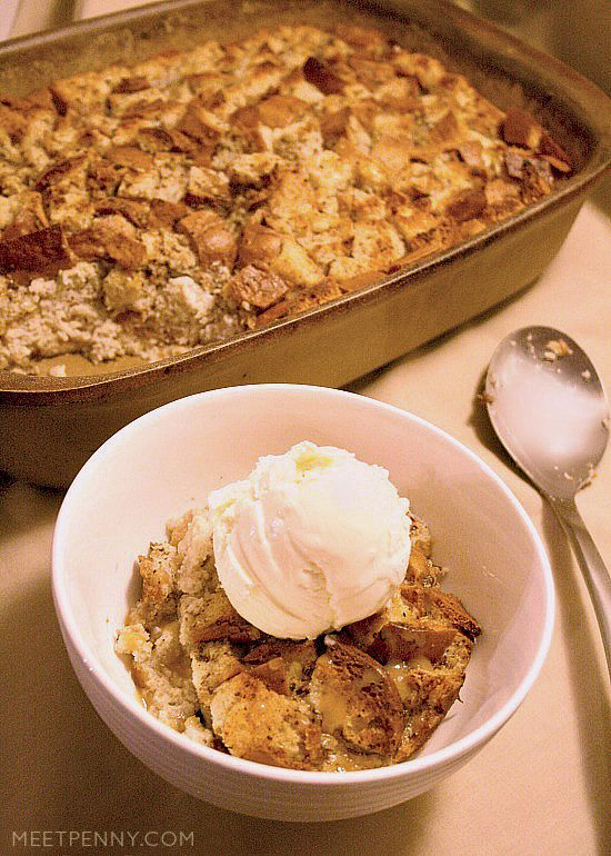 Gluten Free Banana Nut Bread Pudding