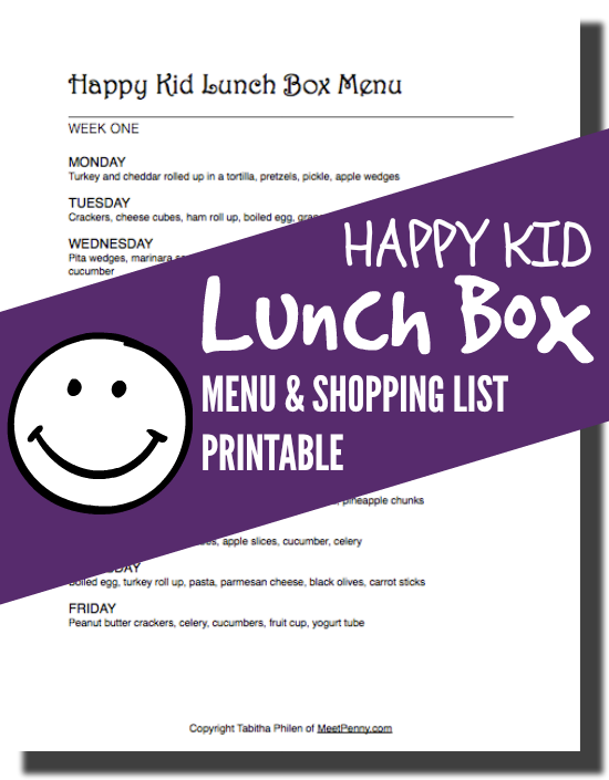 Want to have a happy kid at lunch time? Use this 2 week rotation of school lunch ideas to pack lunch boxes with foods they will eat without growing bored.