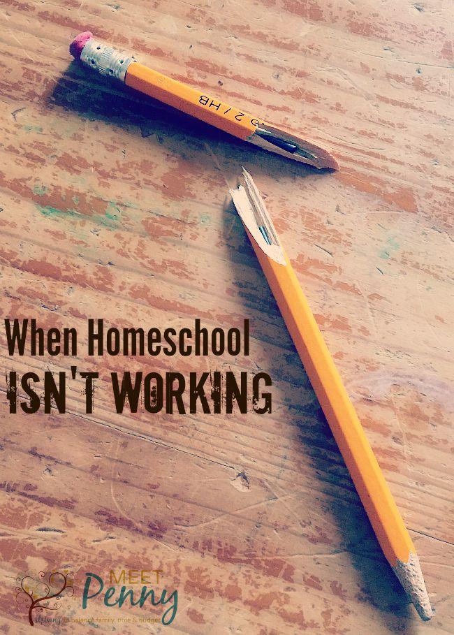 When Homeschool Isn't Working
