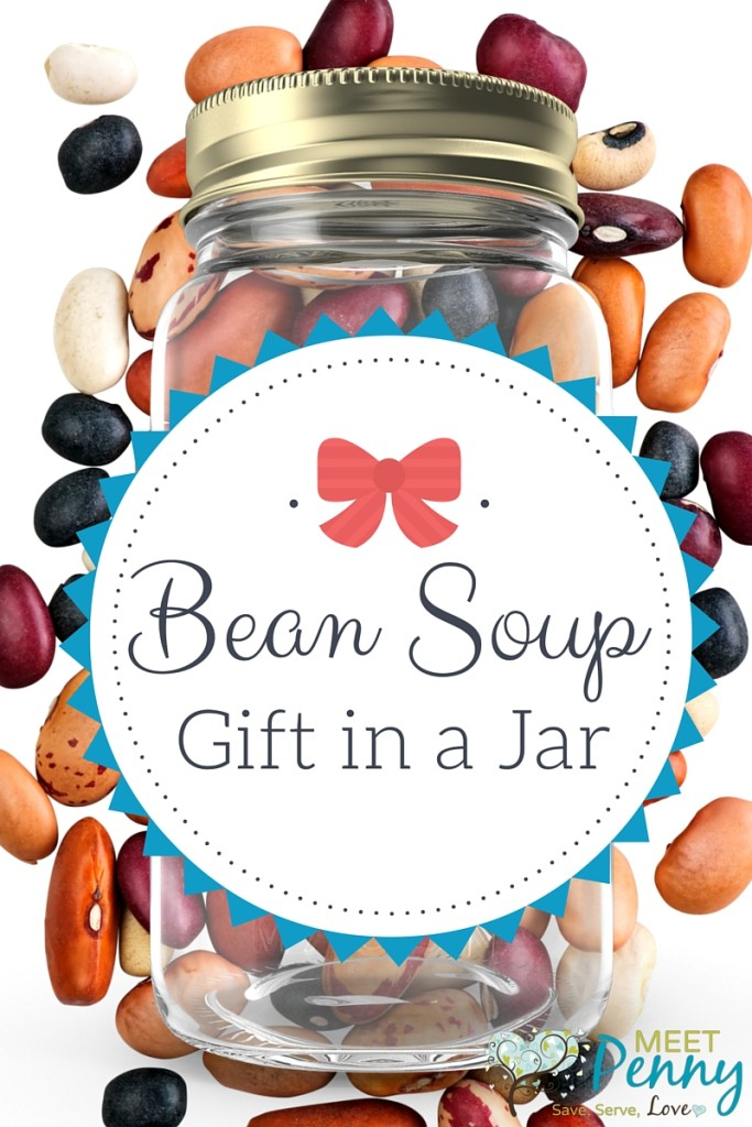 A delicious and comforting gift in a jar. Give Bean Soup as a gift for neighbors, teachers, community servants, church staff... anyone! Final cost is about $3 to $4 per gift. Includes free printable gift tag.