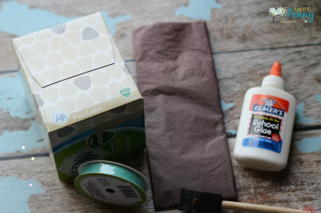 Such a cute and simple homemade Easter basket tutorial. The kids would love to make this Easter Basket from a tissue box.