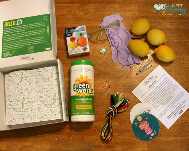 Spark your child's creativity with this lemon battery science experiment. Girls and boys alike can flourish when provided with STEM projects through the Green Works StemBox subscription. #sponsored #NaturalPotential