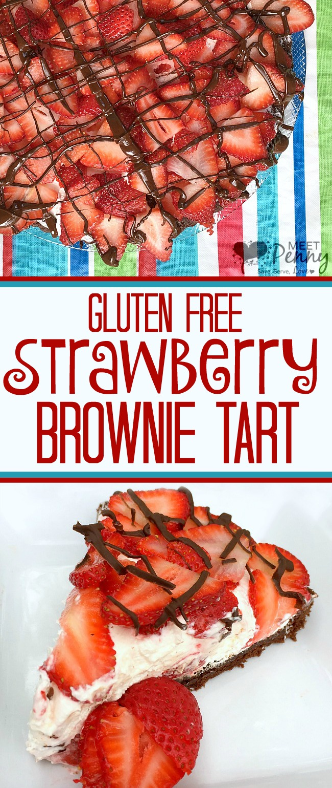 Gluten Free Strawberry Brownie Tart