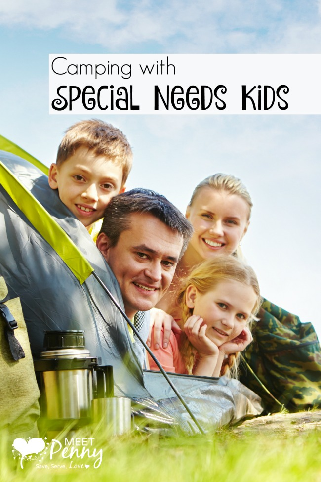 Great tips for camping with special needs kids!