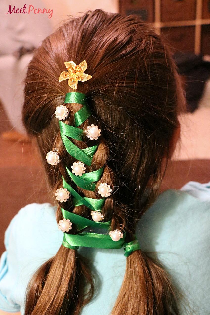 Christmas Tree Braid Kit for Girls