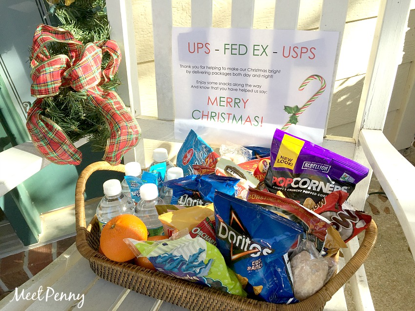 A simple gift for UPS drivers or postal delivery workers. A free printable too.