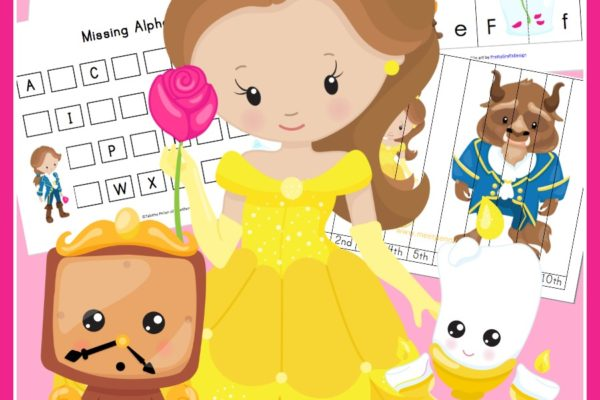Free Beauty and the Beast Printable Pack