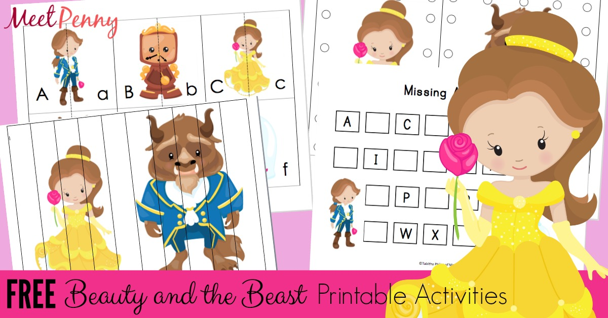 Free Beauty And The Beast Printable Pack Meet Penny