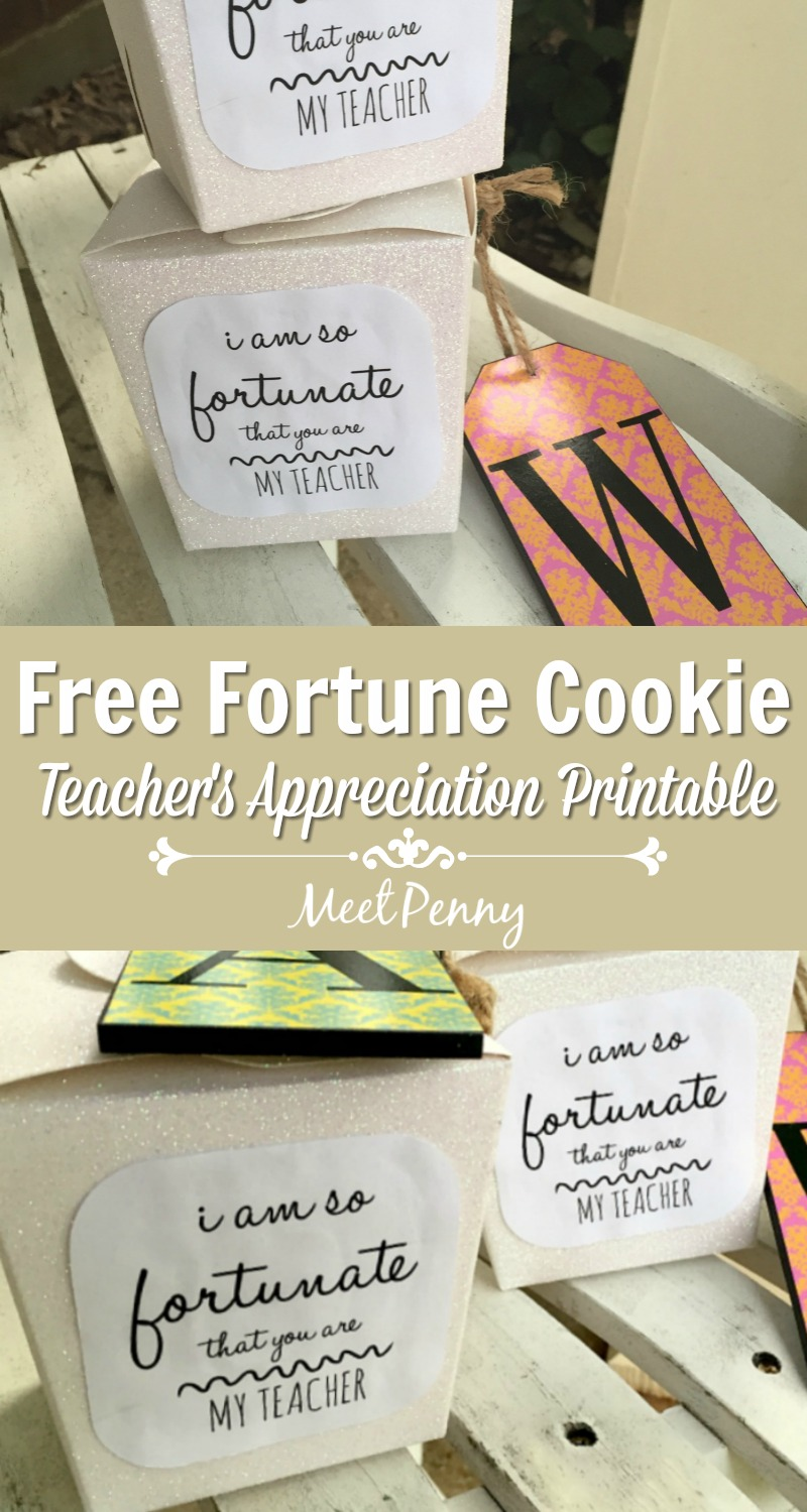 If you felt blessed by your child's teacher this year, why not say how fortunate you were with this easy and inexpensive fortune cookie teacher's gift? Includes a free printable.