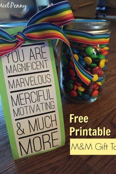 M&M Teacher Gift Printable