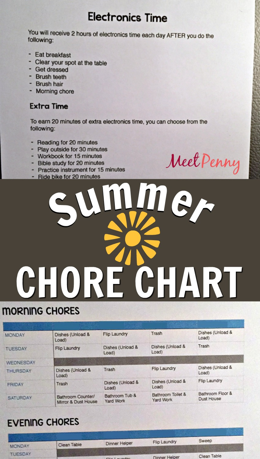It's just a graphic of Summer Chore Chart Printable pertaining to instruction