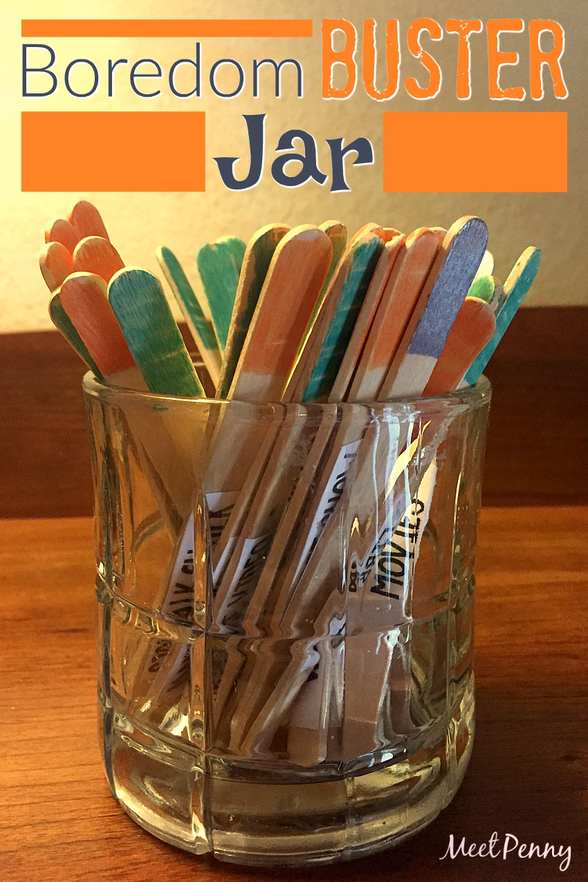 Bust boredom with this color-coded activity jar. Kids pull a stick (based on the color you tell them) and instantly have something to do!
