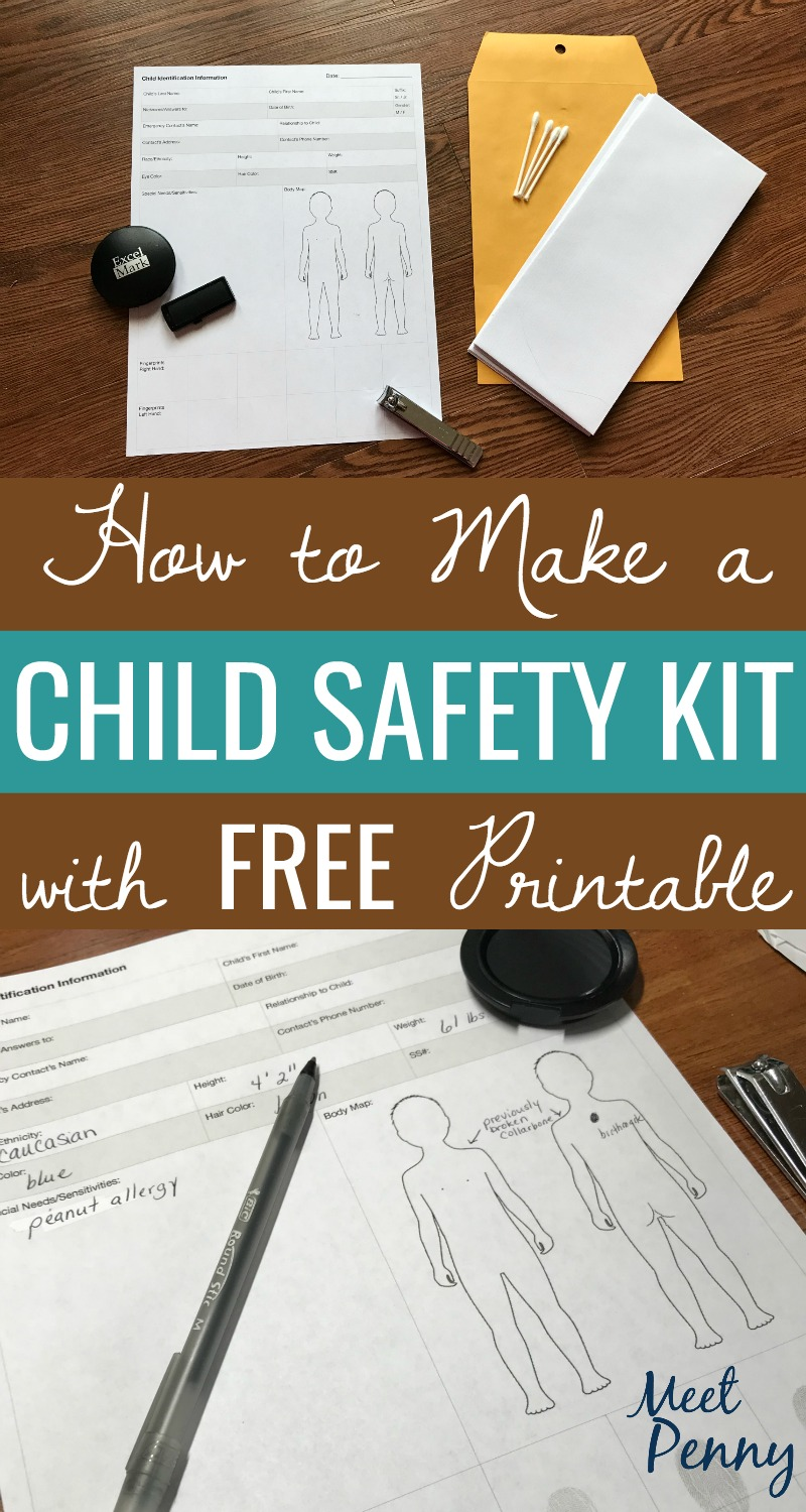 If your child slipped away and couldn't be found, would you have the identification information ready to hand to authorities? Lord help us - I pray you never need it - but prepare a DIY child safety kit... just in case.