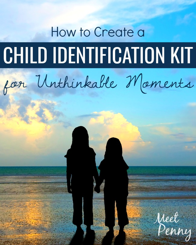 If your child slipped away and couldn't be found, would you have the identification information ready to hand to authorities? Lord help us - I pray you never need it - but prepare a DIY child safe kit... just in case.