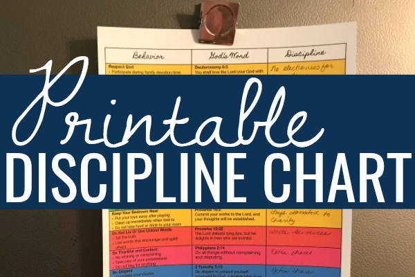 Free Discipline Chart for Christian Parents